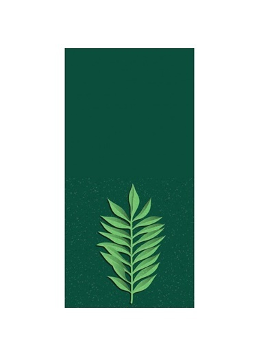 Artikel Yeşil Yapraklar Dekoratif Çift Taraflı Yastık Kırlent Kılıfı 45x45 cm Renkli